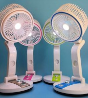Rechargeable & Fold-able Fan with Light