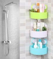 Plastic Corner Triangle Shelf(3pcs)- 2590